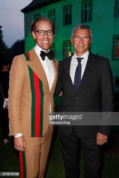 Jens Hilbert and Otto Becke Head coach of the German equestrian jumping team attend the Balve Optimum 2018 Gala on June 8 2018 in Balve Germany