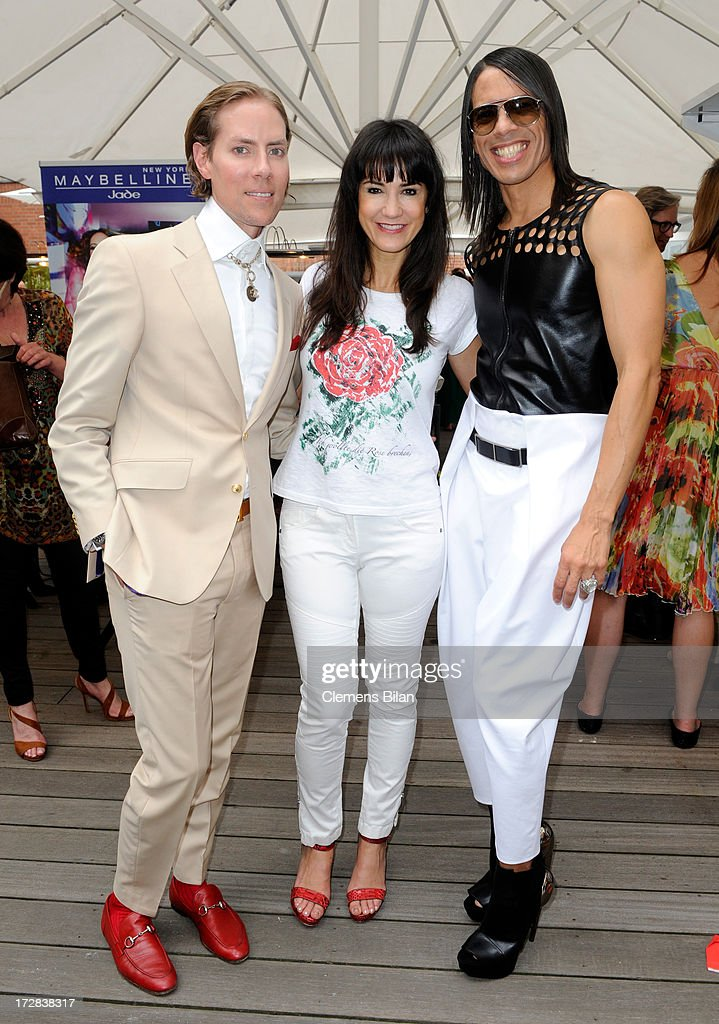 Jens Hilbert, Mariella Ahrens and Jorge Gonzalez attend the Gala Fashion Brunch at Ellington Hotel on July 5, 2013 in Berlin, Germany.