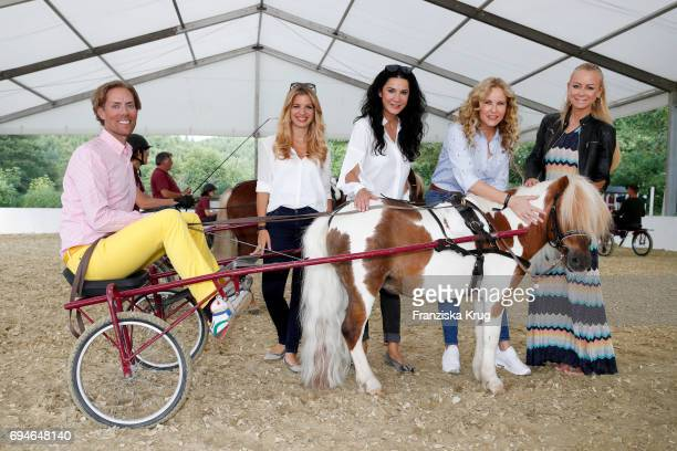 Jens Hilbert Susan Sideropoulos Mariella Ahrens Katja Burkard and Jenny Elvers during the Balve Optimum International Horse Show on June 10 2017 in...