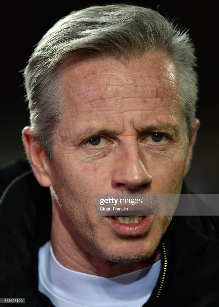 Jens Keller, hed coach of Berlin looks on during the Second Bundesliga match between 1. FC Union Berlin and 1. FC Nuernberg at Stadion An der Alten Foersterei on March 20, 2017 in Berlin, Germany.