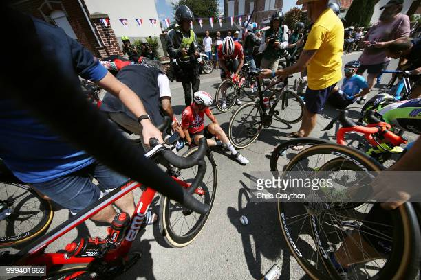 Jens Keukeleire of Belgium and Team Lotto Soudal / Andre Greipel of Germany and Team Lotto Soudal / Jose Joaquin Rojas of Spain and Movistar Team...