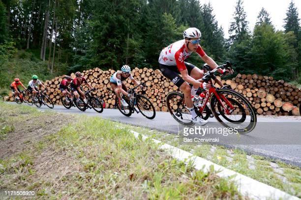 Jens Keukeleire of Belgium and Team Lotto Soudal / Mathias Frank of Switzerland and Team AG2R La Mondiale / Geraint Thomas of United Kingdom and Team...