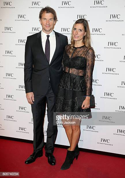 """Jens Lehmann and Conny Lehmann attend the IWC """"Come Fly With Us"""" Gala Dinner during the launch of the Pilot's Watches Novelties from the Swiss luxury..."""