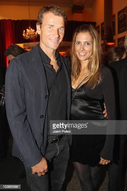 Jens Lehmann and his wife Conny attend the Day of Legends gala Night of Legends at the Schmitz Tivoli theatre on September 5, 2010 in Hamburg,...