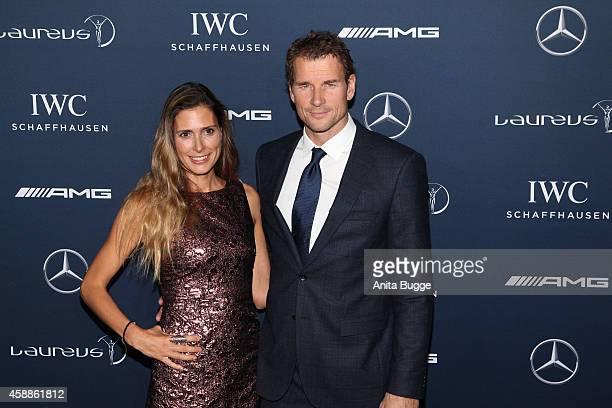 Jens Lehmann and his wife Conny attend the Laureus Media Award 2014 at Grand Hyatt Hotel on November 12 2014 in Berlin Germany