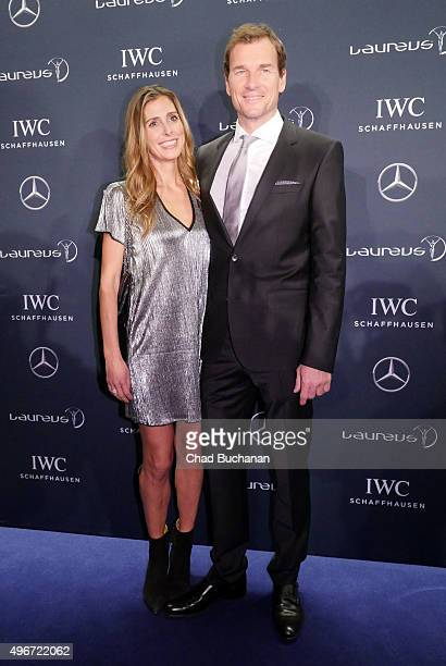 Jens Lehmann and his wife Conny attend the Laureus Sport for Good Night 2015 at Grand Hyatt Hotel on November 11 2015 in Berlin Germany