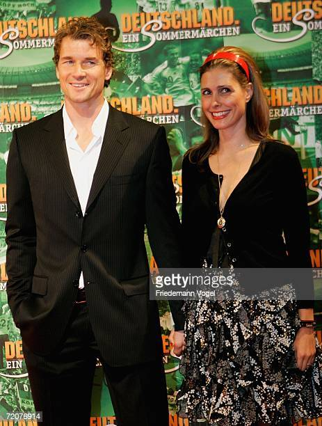 Jens Lehmann and his wife Conny attend the premiere of the film Deutschland ein Sommermaerchen at the Berlinale Palast on October 3 2006 in Berlin...