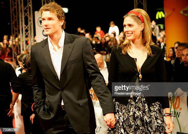 Jens Lehmann and his wife Conny attends the premiere of the film Deutschland ein Sommermaerchen at the Berlinale Palast on October 3 2006 in Berlin...