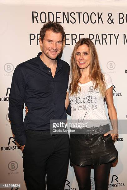 Jens Lehmann and his wife Conny during the Rodenstock & Bogner premiere party at P1 on January 9, 2015 in Munich, Germany.