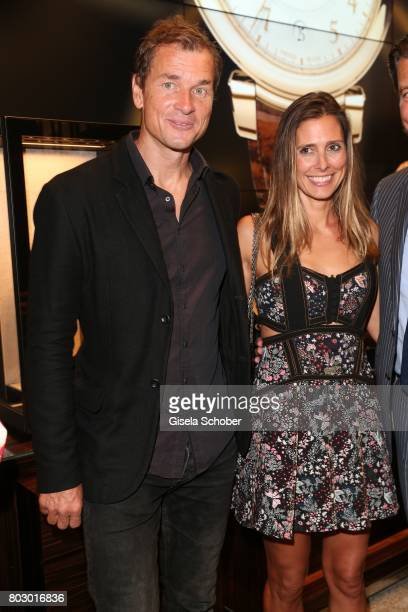 Jens Lehmann and his wife Conny Lehmann attend the exclusive grand opening event of the new IWC Schaffhausen Boutique in Munich on June 28, 2017 in...