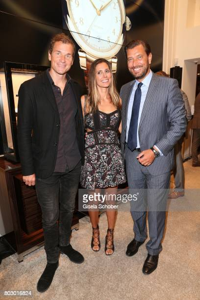 Jens Lehmann and his wife Conny Lehmann, Henrik Ekdahl, Managing Director IWC Northern Europe attend the exclusive grand opening event of the new IWC...