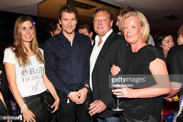 Jens Lehmann and his wife Conny Oliver Kastalio CEO Rodenstock and his wife Kirsten Kastalio during the Rodenstock Bogner premiere party at P1 on...