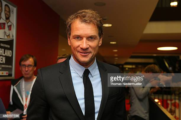 Jens Lehmann member of the Club of Former National Players is seen prior to the EURO 2016 Qualifier match between Germany and Poland at...