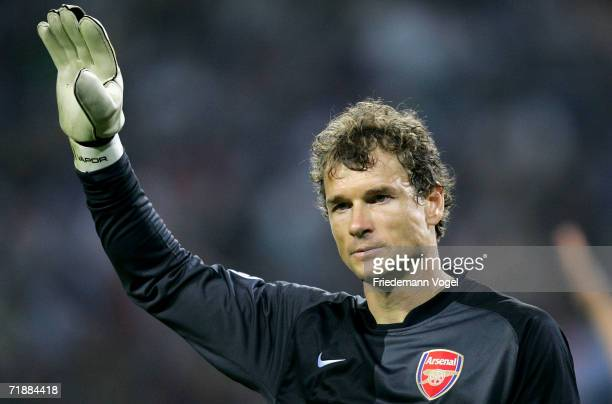 Jens Lehmann of Arsenal during the UEFA Champions League Group G match between Hamburger SV and Arsenal at the AOL Arena on September 13 2006 in...
