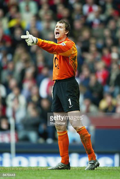Jens Lehmann of Arsenal in action during the FA Cup Semi Final match between Arsenal and Manchester United on April 3 2004 at Villa Park in...