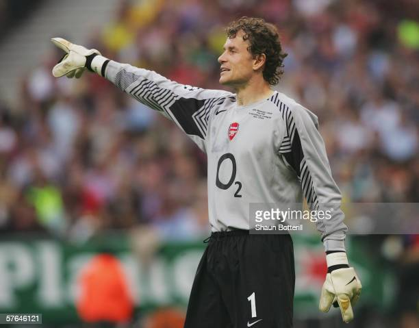 Jens Lehmann of Arsenal in action during the UEFA Champions League Final between Arsenal and Barcelona at the Stade de France on May 17 2006 in Paris...