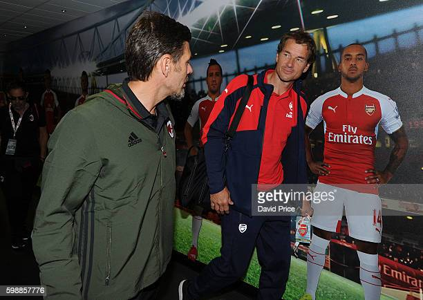 Jens Lehmann of Arsenal Legends with Zvonimir Boban of Milan Glorie before the Arsenal Foundation Charity match between Arsenal Legends and Milan...