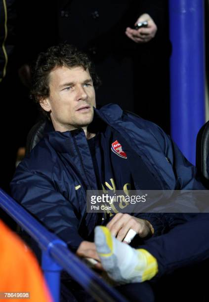 Jens Lehmann of Arsenal looks on from the bench during the Barclays Premier League match between Portsmouth and Arsenal at Fratton Park on December...