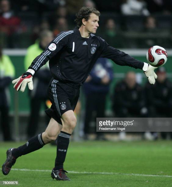 Jens Lehmann of Germany in action during the UEFA Euro2008 Group D qualifying match between Germany and Wales at the Commerzbank Arena on November 21...