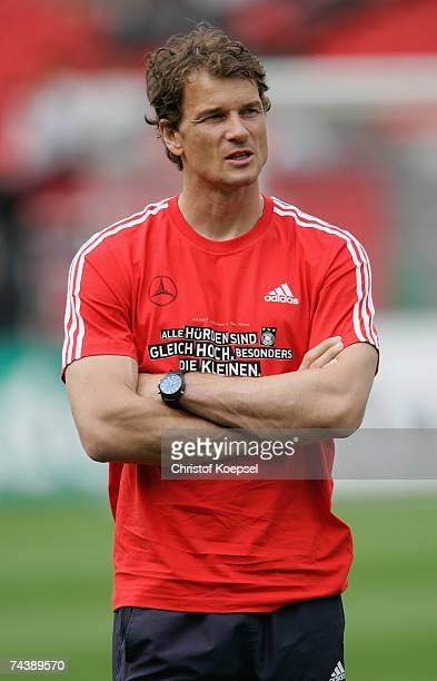 Jens Lehmann of Germany looks on before the UEFA EURO 2008 qualifier between Germany and San Marino at the Easy Credit stadium on June 2007 in...
