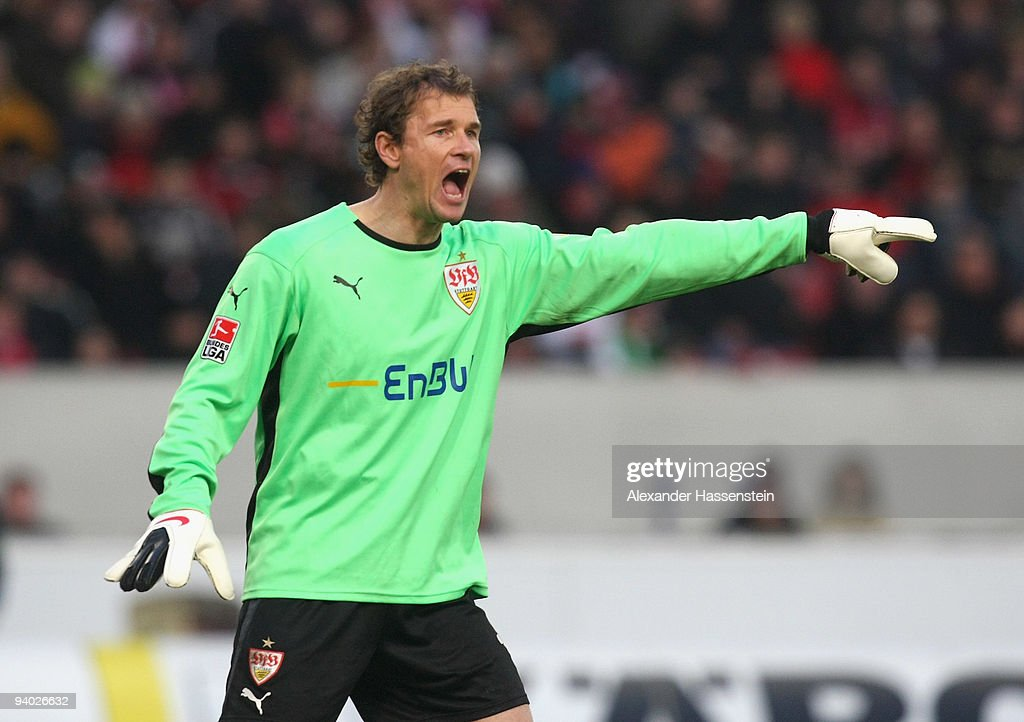 Jens Lehmann of Stuttgart reacts during the Bundesliga match between VfB Stuttgart and VfL Bochum at Mercedes-Benz Arena on December 5, 2009 in Stuttgart, Germany.