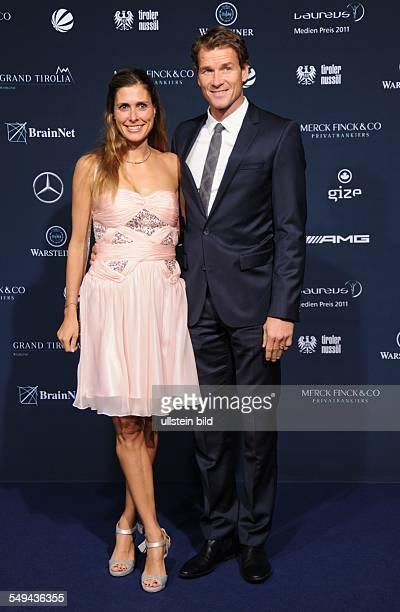 Jens Lehmann und Ehefrau Conny beim Laureus Medien Preis in Kitzbühel, Austria