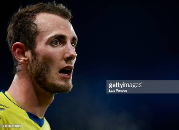 Jens Martin Gammelby of Brondby IF looks on during the Danish Superliga match between Brondby IF and AaB Aalborg at Brondby Stadion on March 10 2019...