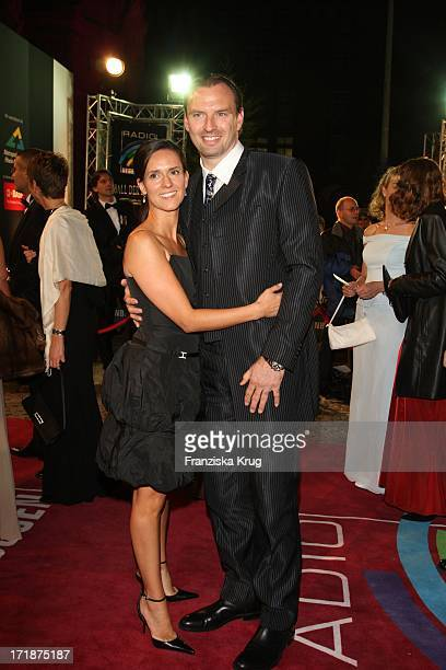 Jens Nowotny Accompanied with his wife Michaela When The Star Ball The Rosengarten in Mannheim