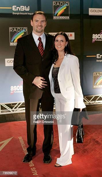 Jens Nowotny and his wife Michaela arrive at the Radio Regenbogen Award 2006 on March 9 2007 in Karlsruhe Germany