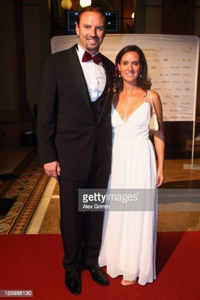 Jens Nowotny and his wife Michaela during the 31 Sportpresseball at Alte Oper on November 10 2012 in Frankfurt am Main Germany