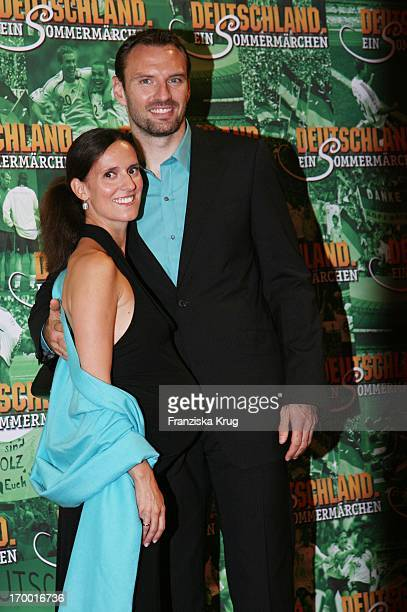 Jens Nowotny and his wife Michaela In The Cinema Premiere Of Films From S Wortmann Germany A Summer Fairytale on 031006