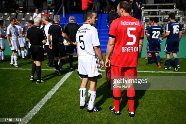 Jens Nowotny of Bayer 04 Leverkusen looks on prior on Day 1 of the DFB Over40 And Over50 Cup between SG Stadelhofen and Bayer 04 Leverkusenat...