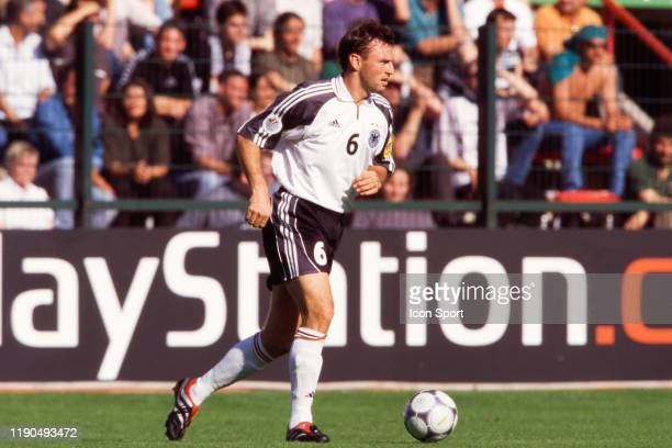 Jens Nowotny of Germany during the European Championship match between Germany and Romania at Stade Maurice Dufrasne Liege Belgium on 12 June 2000