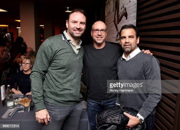 Jens Nowotny Stefan Beinlich and Ulf Kirsten members of the Club of Former National Players attend the International friendly match between Germany...