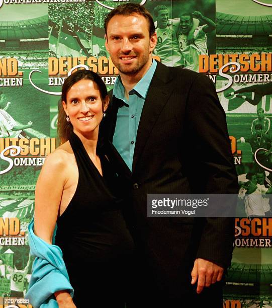 Jens Nowotny with his wife Michaela attends the premiere of the film Deutschland ein Sommermaerchen at the Berlinale Palast on October 3 2006 in...