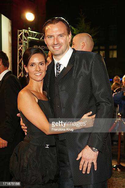 Jens Nowotny with wife Michaela When The Star Ball The Rosengarten in Mannheim