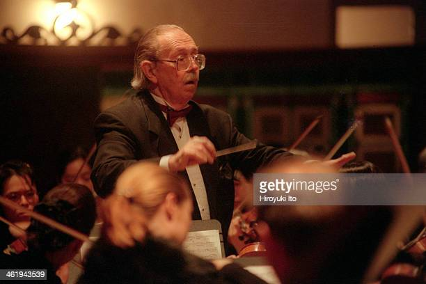 Jens Nygaard leading the Jupiter Symphony in Brahms's 'Symphony No 1' at Good Shepherd Presbyterian Church on Tuesday night January 23 2001