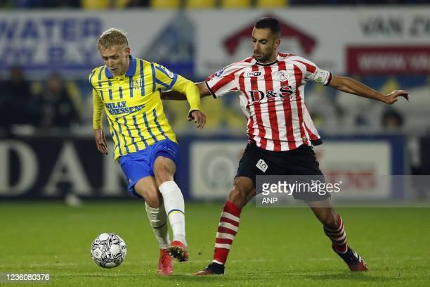 Jens Odgaard of RKC Waalwijk, Adil Auassar of Sparta Rotterdam during the Dutch Eredivisie match between RKC Waalwijk and Sparta Rotterdam at the...