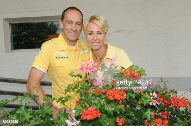 Jens Oliver Haas and Sonja Zietlow attend the Bavarian Film Cup 2009 on July 30 2009 in Egling Germany