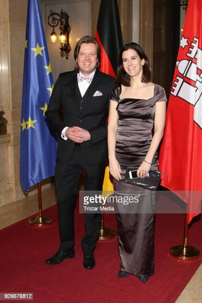 Jens P Meyer and Katja Suding attend the Matthiae Mahl on March 2 2018 in Hamburg Germany