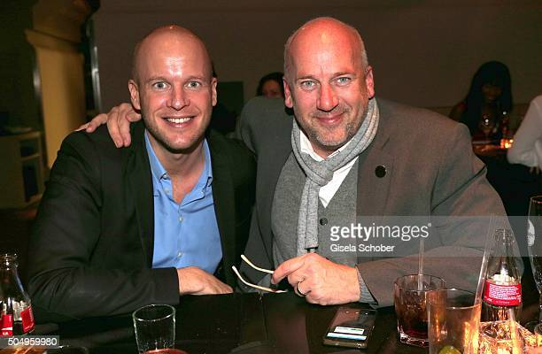 Jens Schniedenharn and his brother Bjoern Schniedenharn during the Heart Club New Year's reception at Heart on January 13 2016 in Munich Germany