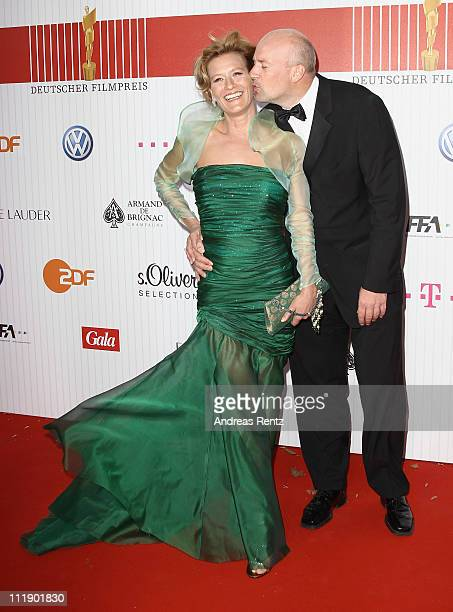 Jens Schniedenharn and Suzanne von Borsody arrive for the German Film Award 2011 at Friedrichstadtpalast on April 8 2011 in Berlin Germany
