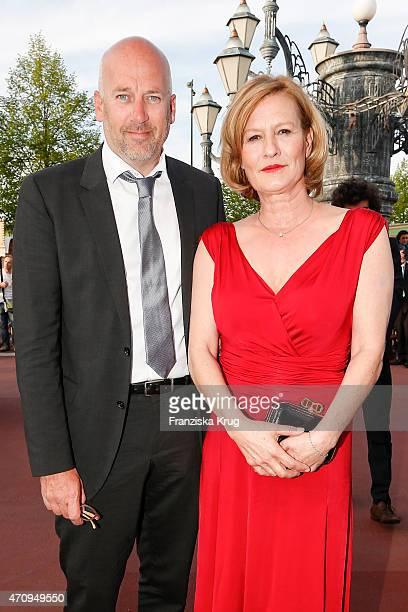 Jens Schniedenharn and Suzanne von Borsody attend the Skoda at Radio Regenbogen Award 2015 on April 24 2015 in Rust Germany