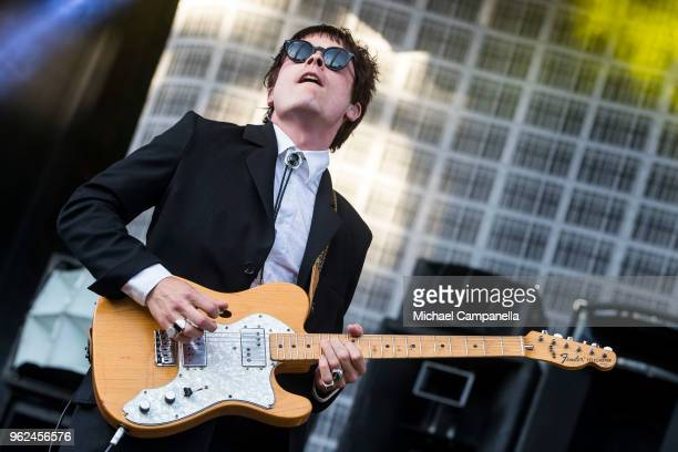Jens Siverstedt of Mando Diao performs in concert at Grona Lund on May 25 2018 in Stockholm Sweden