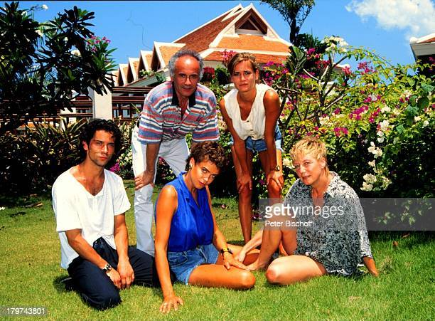 """Jens Solf, Gerit Kling, Margarita , Ulrich und Tochter Anja Kling , auf der Insel Koh Samui / Thailand, Hotel;""""Santiburi Dusit"""", Urlaub,..."""