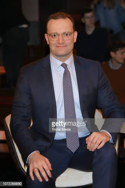 Jens Spahn during the 'Markus Lanz' TV Show on December 12 2018 in Hamburg Germany