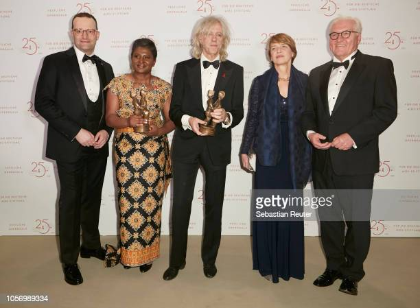 Jens Spahn Monica Geingos Sir Bob Geldof Elke Buedenbender and President of Germany FrankWalter Steinmeier attend the 25th Opera Gala at Deutsche...