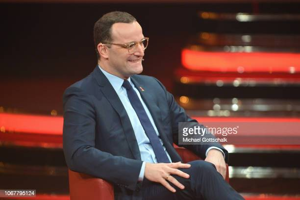 Jens Spahn speaks on stage during the tv show '2018 Menschen Bilder Emotionen' on December 3 2017 in Cologne Germany