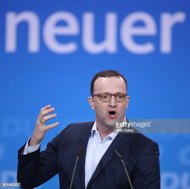 Jens Spahn who has been an outspoken critic of Chancellor and CDU Chairwoman Angela Merkel and who is slated to become the next German health...