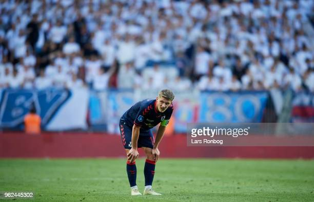 Jens Stage of AGF Aarhus looks dejected during the Danish Alka Superliga Europa League Playoff match between FC Copenhagen and AGF Aarhus at Telia...